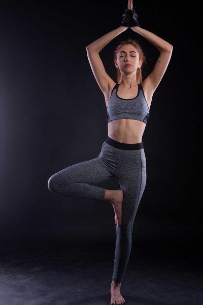 woman balance yoga pose