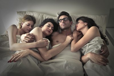4 people sleeping together