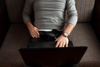 masturbating in front of computer