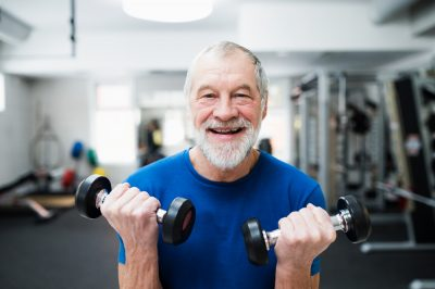 elderly man benefits from regular exercise