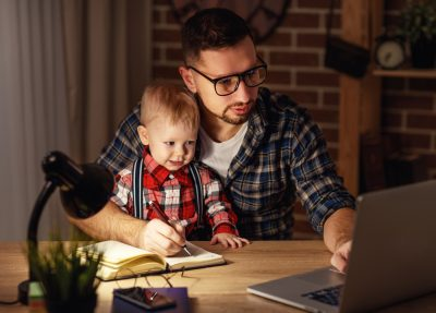 dad who works at home and takes Progentra has more time for child
